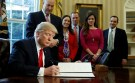 Donald Trump signing executive order to roll back Dodd-Frank